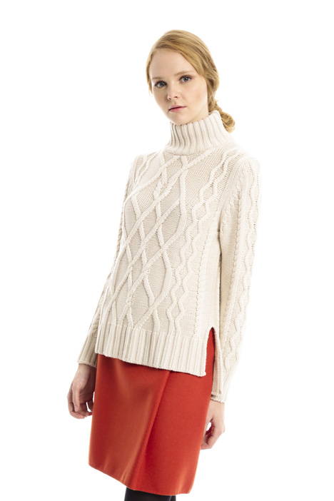 High neck wool sweater Diffusione Tessile