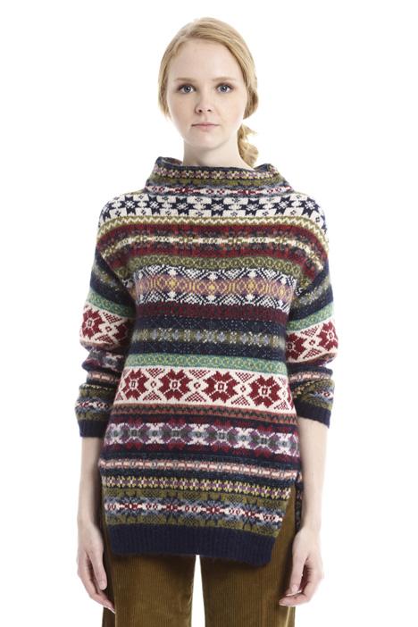 Multi-pattern sweater Diffusione Tessile