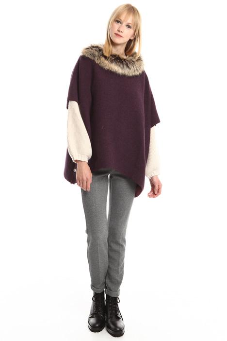 Poncho in maglia di lana Diffusione Tessile