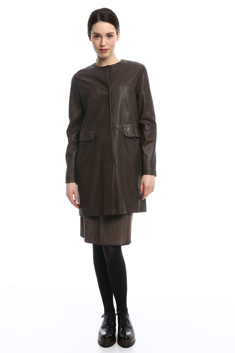 Leather coat Intrend
