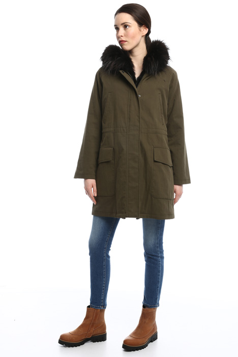Parka jacket with fur coat Intrend