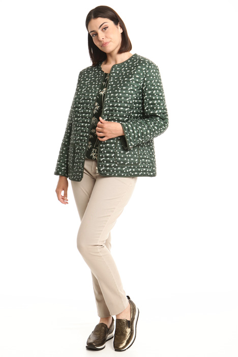 Floral pattern padded jacket Intrend
