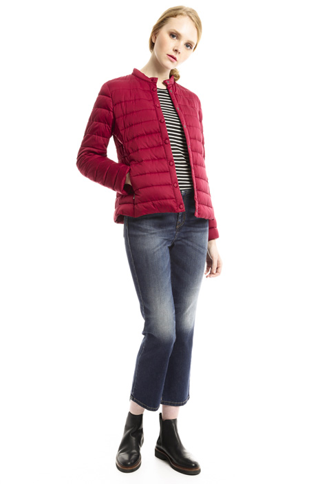 Short satin-effect down jacket Diffusione Tessile