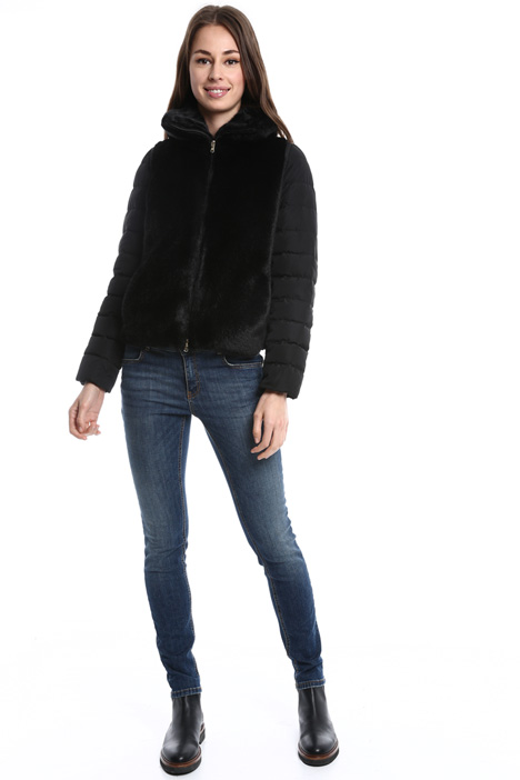 Faux-fur padded jacket Diffusione Tessile