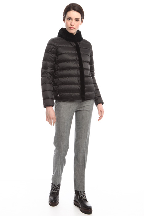 Padded jacket with fur-trim Diffusione Tessile