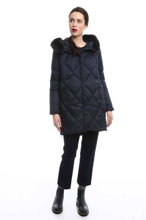 Hooded down-filled coat Diffusione Tessile