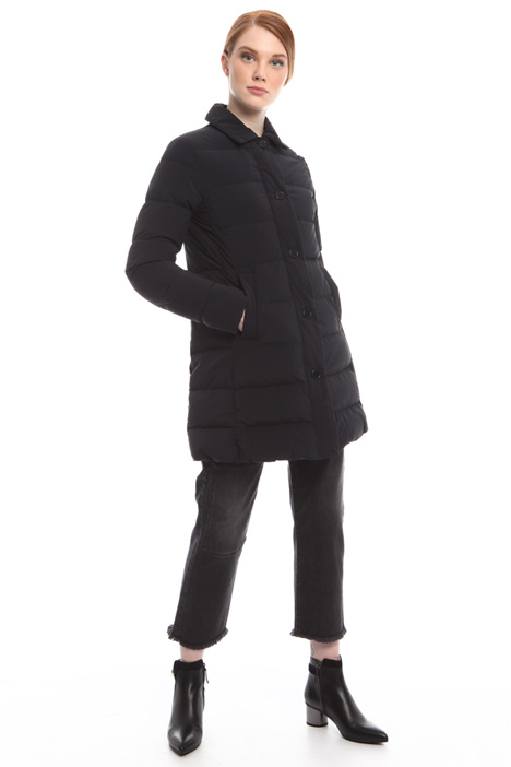 Down coat with zip and buttons Diffusione Tessile