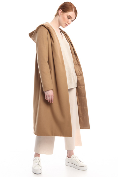 Long wool padded coat Diffusione Tessile