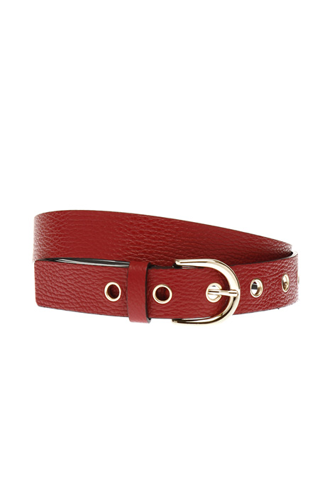 Leather belt with circle rings Diffusione Tessile