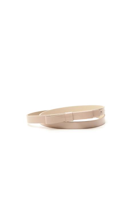 Cintura in vernice con fiocco Diffusione Tessile