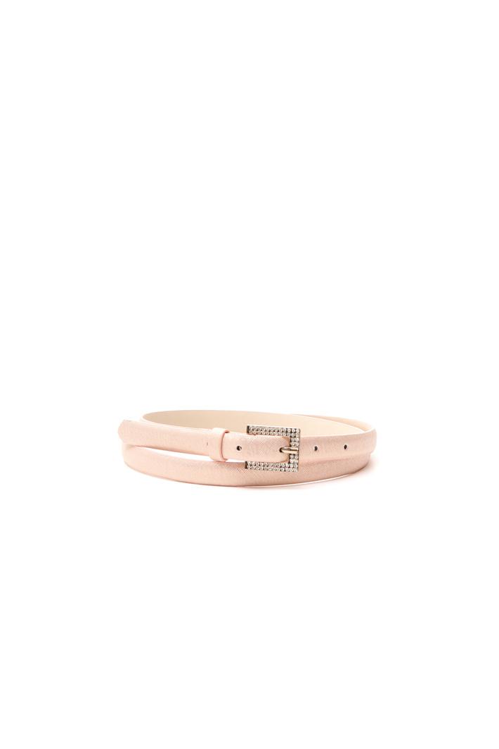 Cintura sottile con fibbia strass Diffusione Tessile
