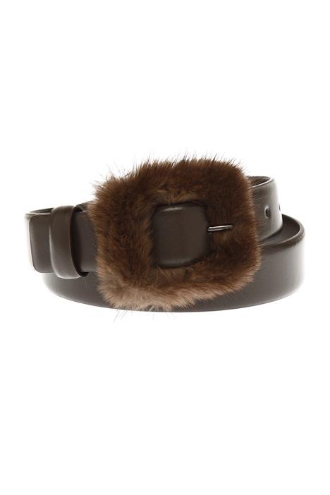 Cintura con fibbia in visone Diffusione Tessile
