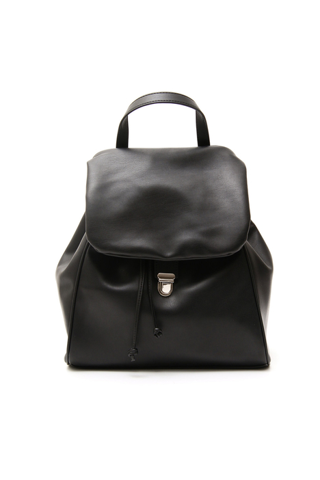 Leather-effect backpack Diffusione Tessile