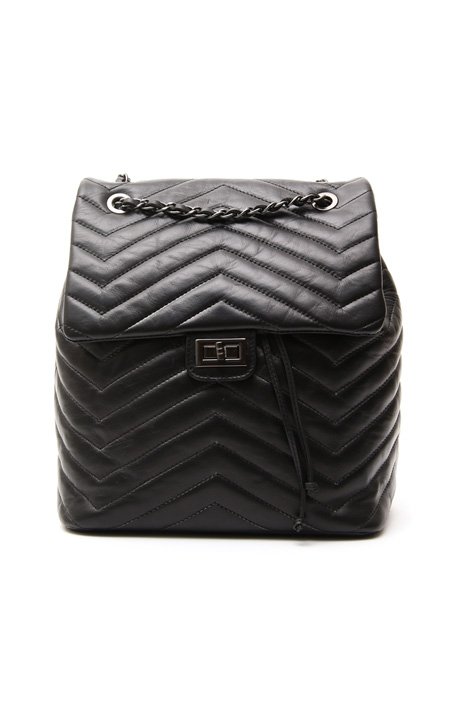 Chevron leather backpack Diffusione Tessile