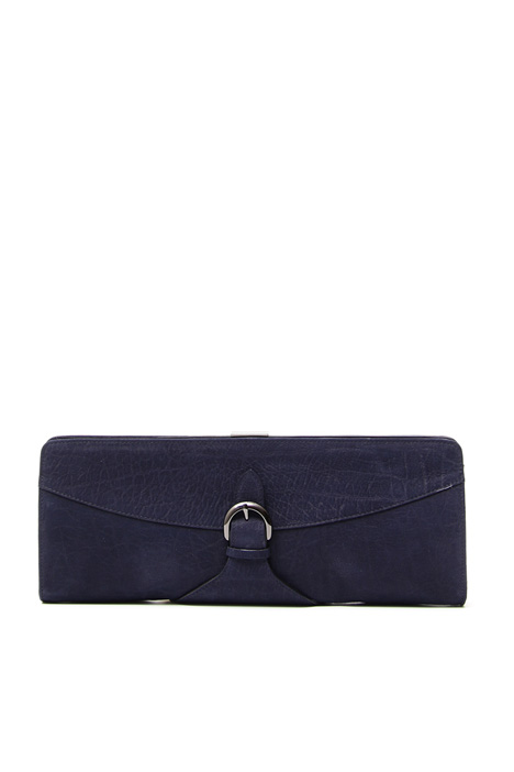 Long leather pochette Diffusione Tessile