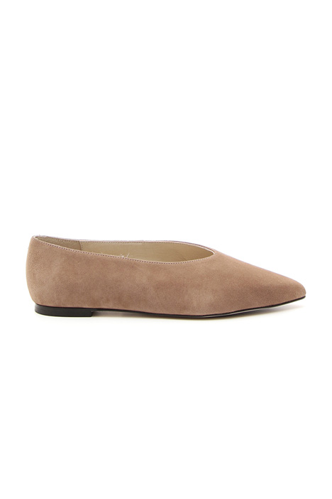 Ballerina shoes in leather Diffusione Tessile