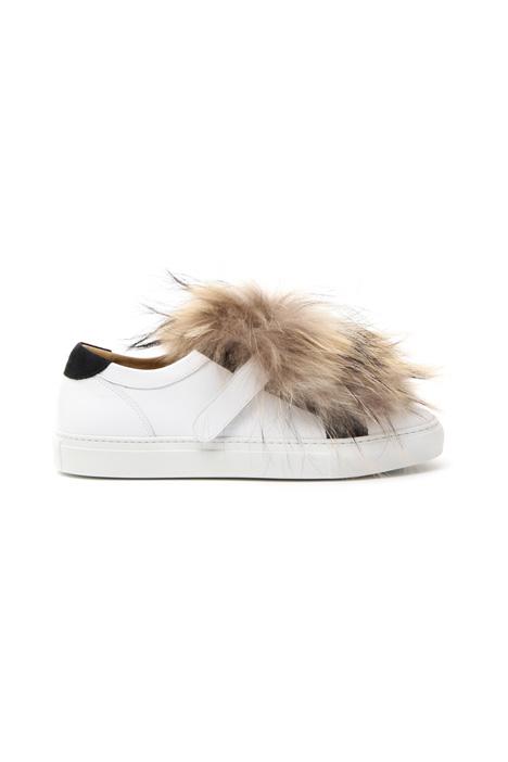 Fur-trim sneakers Diffusione Tessile