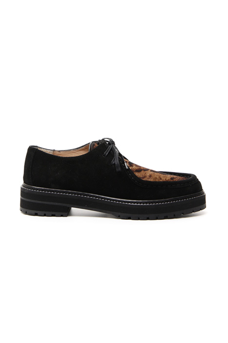 Leather and calfhair lace-shoe Intrend