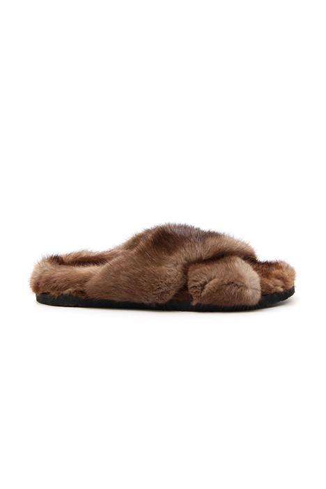Fur slipper Diffusione Tessile