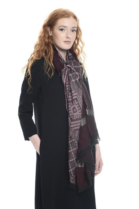 Lurex jacquard scarf Diffusione Tessile