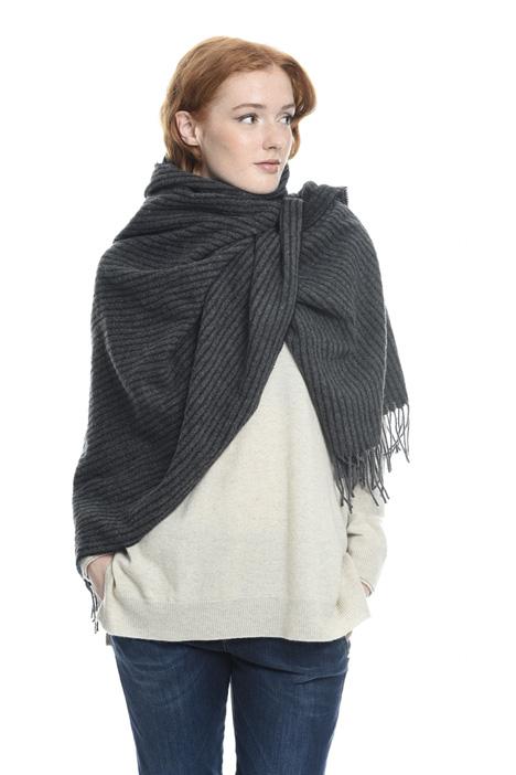 Sciarpa a righe in misto lana Diffusione Tessile