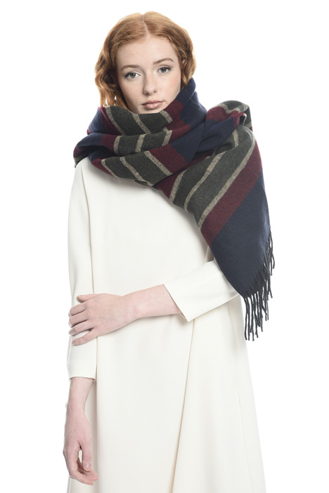 Wool and cotton scarf Diffusione Tessile