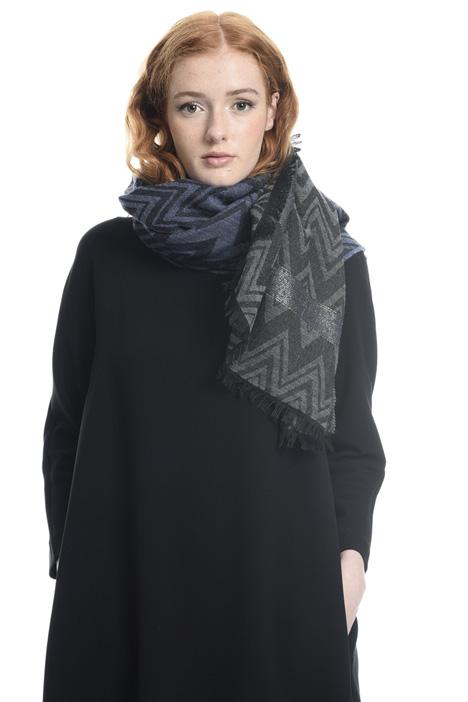 Lurex detail scarf Diffusione Tessile