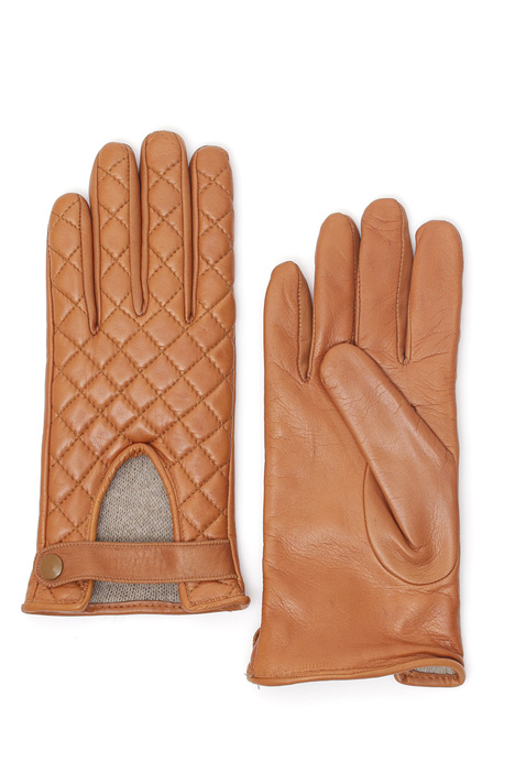 Quilted leather gloves Diffusione Tessile