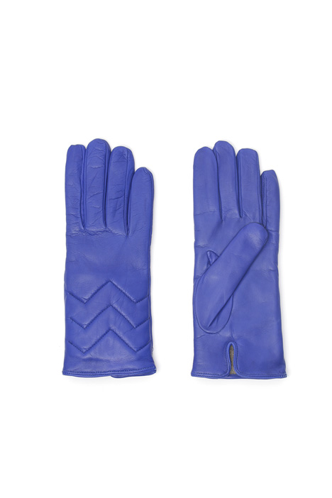 Quilted leather gloves Intrend