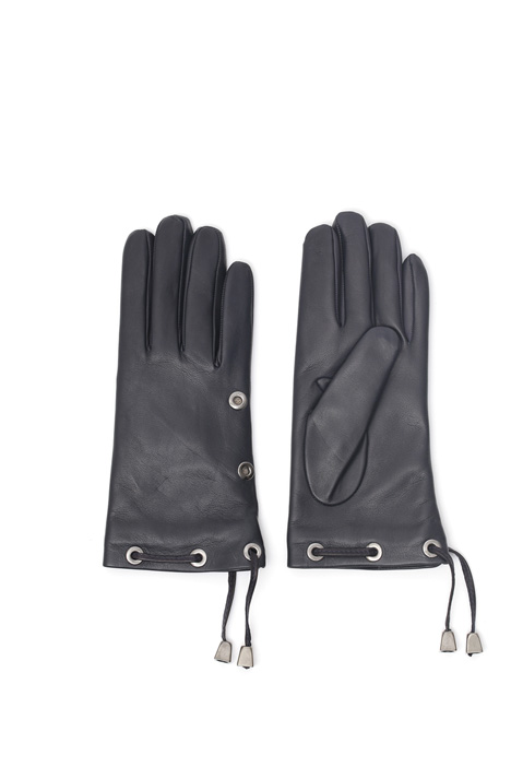 Drawstring leather gloves Diffusione Tessile