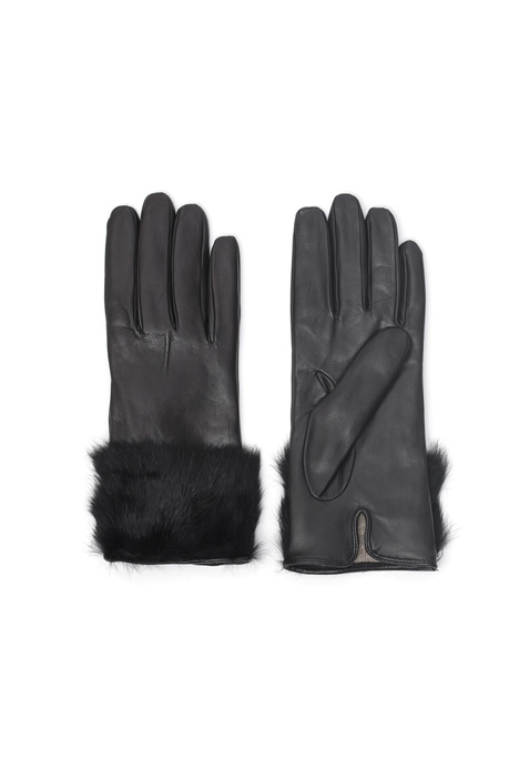 Fur trimmed gloves Diffusione Tessile