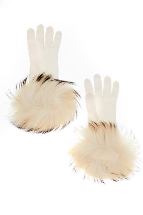 Guanti con pelliccia Diffusione Tessile