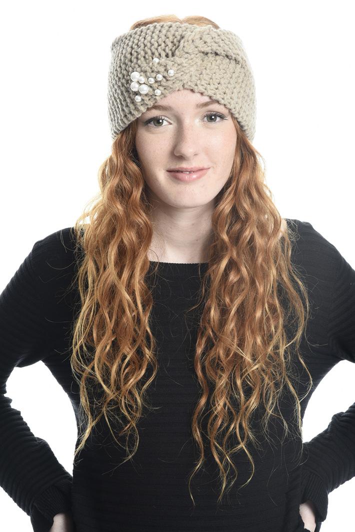 Fascia per capelli con perle Diffusione Tessile