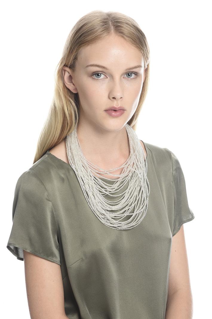 Collana multifilo in vetro Diffusione Tessile