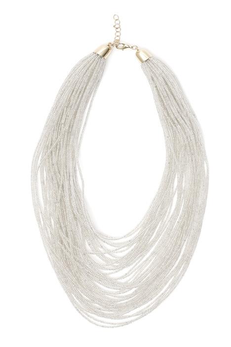 Glass multi-row necklace Diffusione Tessile