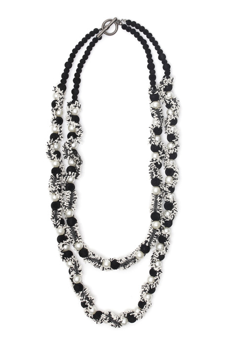 Necklace with fabric fringes Intrend
