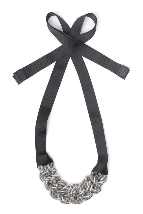 Collana con treccia metallica Diffusione Tessile