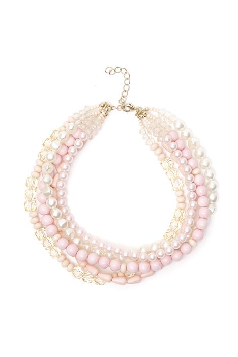 Girocollo multifili con perle Diffusione Tessile