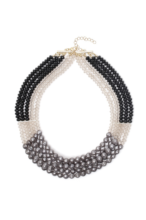 Multi-row collar necklace Diffusione Tessile