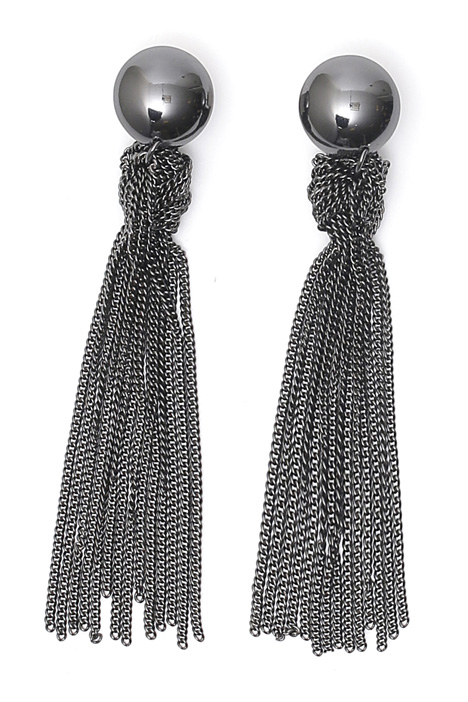 Metallic tassels earrings Diffusione Tessile