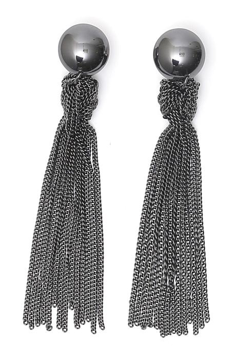 Orecchini con fili in metallo Diffusione Tessile