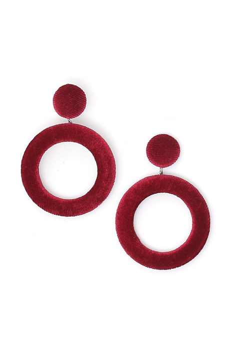 Velvet pendant earrings Diffusione Tessile