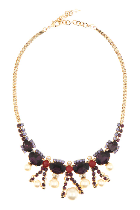 Necklace collar with pearls Diffusione Tessile