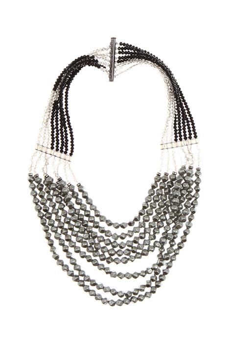 Multi-row glass bead necklace Diffusione Tessile