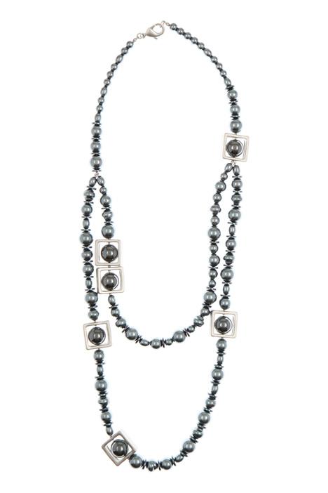 Collana con perle e geometrie Diffusione Tessile