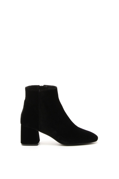 Smooth velvet ankle-boots Diffusione Tessile