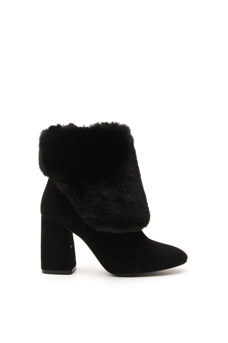Faux-fur trimmed boots Diffusione Tessile