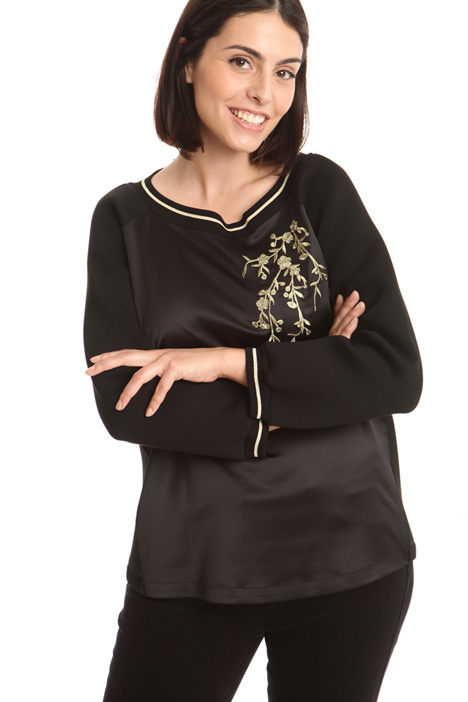 Satin and jersey sweatshirt Diffusione Tessile