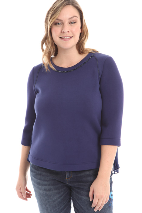 Boxy fit plissé sweatshirt Diffusione Tessile