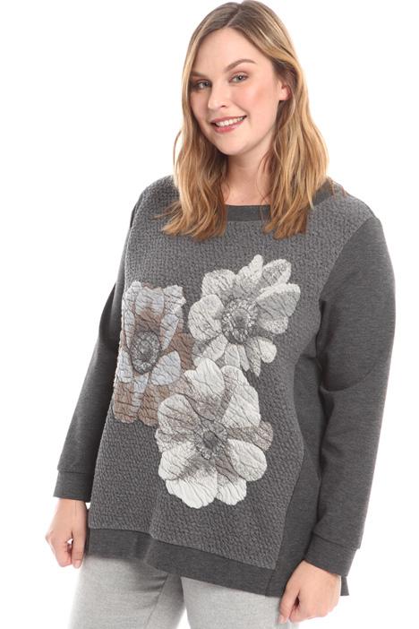 Matelassé panel sweatshirt Diffusione Tessile